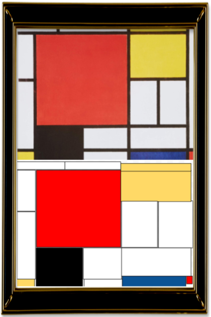 Composition with Red, Yellow, Blue and Black' by Piet Mondrian (Year 3)