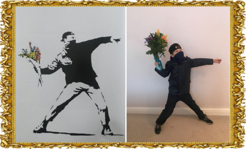 Flower Throwing Man by Banksy 2003 (Year 3)