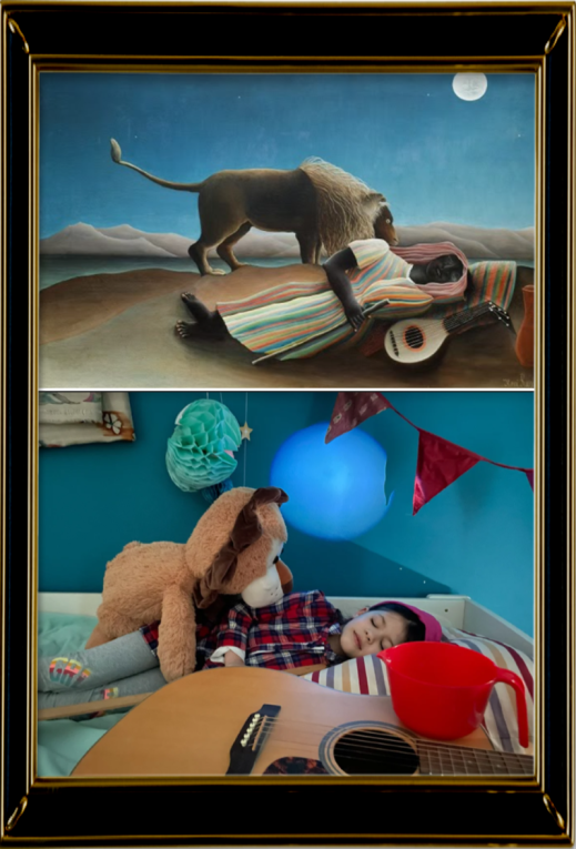 The Sleeping Gypsy by Henri Rousseau 1897 (Reception)
